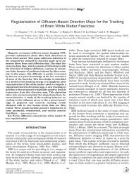 Regularization of Diffusion-Based Direction Maps for the Tracking of ...