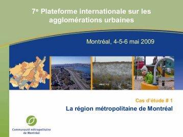 Cas d'étude #1 - Communauté métropolitaine de Montréal