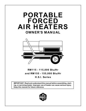 portable forced air heaters - Allparts Equipment & Accessories