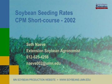Soybean Seeding Rates, Plant Stands and Yields