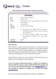 RICS Thailand APC Assessor Training Workshop - RICS Asia