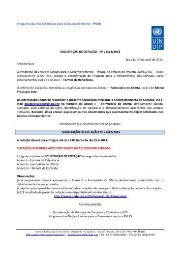 Nº 21312/2013 Brasília, 23 de abril d - Pnud