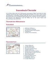 Tourenbuch-Übersicht