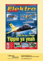 Der folgende Bericht ist in Elektro-modellflug-praxis 2010 - Kyosho