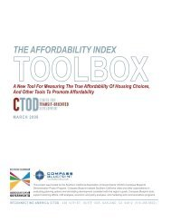 Affordability Index Toolkit and case studies - Reconnecting America
