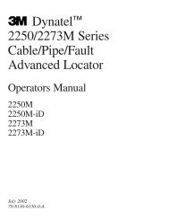Dynatel™ 2250/2273M Series Cable/Pipe/Fault Advanced Locator