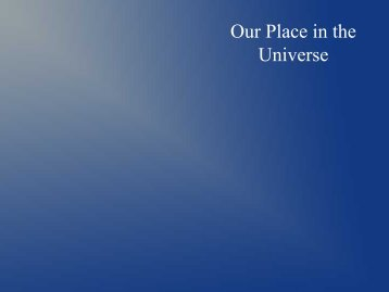 Our Place in the Universe - Ann Arbor Earth Science