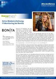 Jetzt die Bonita Case Study als PDF laden - ManageEngine