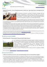 la lettre n°14 - Réseau Rural Français