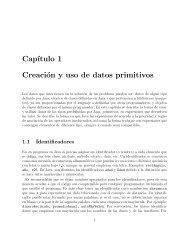 Cap´ıtulo 1 Creación y uso de datos primitivos