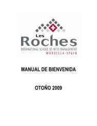 MANUAL DE BIENVENIDA OTOÑO 2009 - Les Roches International ...