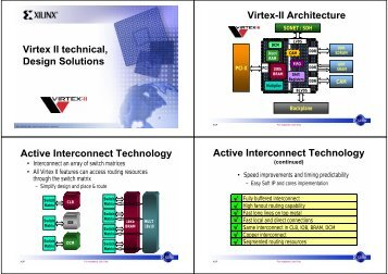 Virtex II technical, Design Solutions Virtex-II Architecture Active ...
