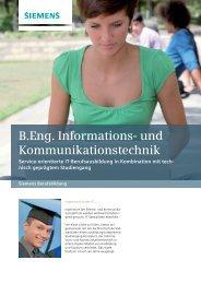 B.Eng. Informations- und Kommunikationstechnik - Siemens