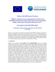 Minutes of the Brussels research workshop - European Report on ...