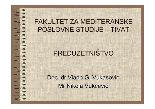 operativni plan - Početna stranica Fakulteta za Mediteranske ...