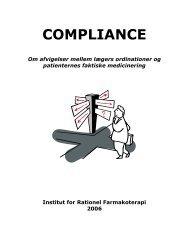 COMPLIANCE - Institut for Rationel Farmakoterapi