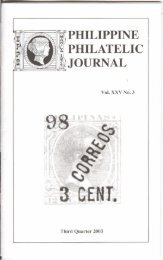 Third Quarter 2003 - International Philippine Philatelic Society