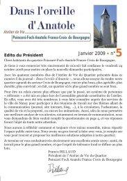 Janvier 2009 • n°5 - Ville de Nancy