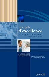 Les prix d'excellence du réseau de la Santé et des Services sociaux ...