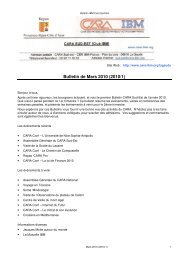 Bulletin de Mars 2010 (2010/1) - CARA IBM