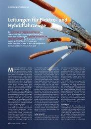 Leitungen für Elektro- und Hybridfahrzeuge