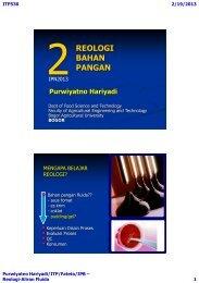 ITP530-2-REOLOGI-Fluida-2013 - Bogor Agricultural University