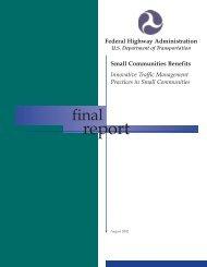 BR2_Small Comm_spreads_FHWA.qxd - Cambridge Systematics