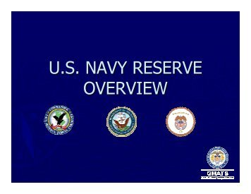 U.S. NAVY RESERVE OVERVIEW - Massachusetts Maritime Academy