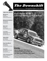 September 2009 - Even Faster At 50 - Chicagoland Sports Car Club