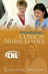 Clinical Nurse Leader Brochure - American Association of Colleges ...