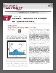 Construction Advisory Report | Construction ... - Hill International