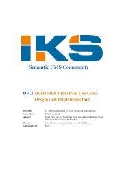 Horizontal Industrial Use Case - IKS