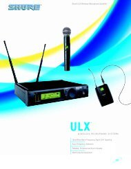 Shure ULX Wireless Microphone Systems - AVsuperstore.com