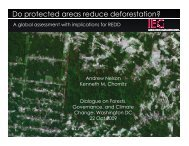 Do protected areas reduce deforestation? - Illegal Logging Portal