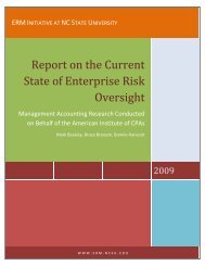 Report on the Current State of Enterprise Risk Oversight