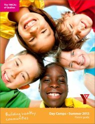 Day Camps – Summer 2013 - YMCA