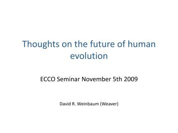 Thoughts on the future of human evolution