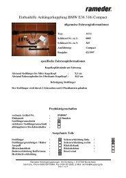 Einbauhilfe Anhängerkupplung BMW E36 316i Compact