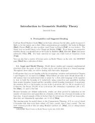 Introduction to Geometric Stability Theory - CiteSeerX