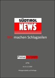 Wir machen Schlagzeilen. - SuedtirolNews.it
