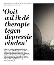 Ooit wilikdé therapie tegen depressie vinden - Clinical Cognition Lab