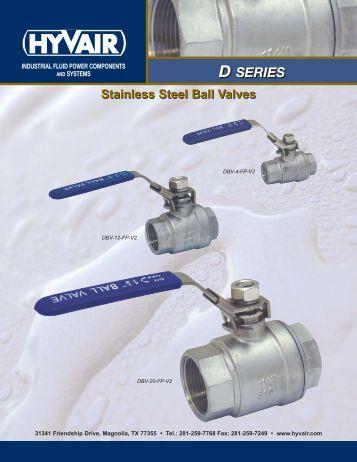 Stainless Steel Ball Valves - Hyvair