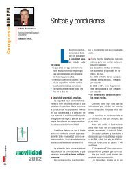 Conclusiones Movilidad 2012 - Revista DINTEL Alta Dirección