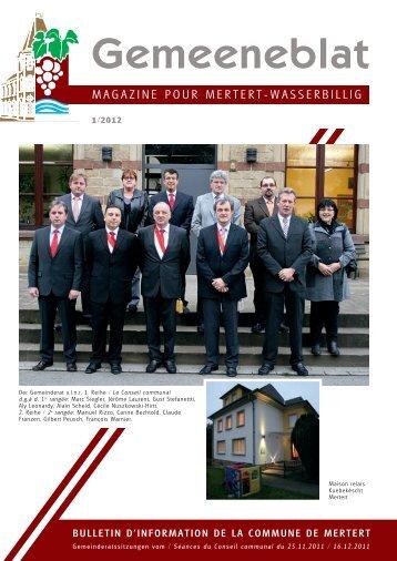 Gemeeneblat - Administration Communale de Mertert