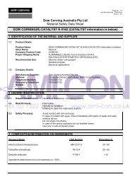 Dow Corning Australia Pty Ltd Material Safety Data ... - AMI-CON