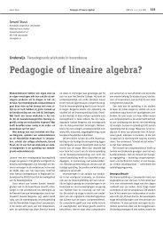 Pedagogie of lineaire algebra? - Nieuw Archief voor Wiskunde