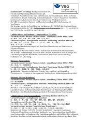 Seminare der Verwaltungs-Berufsgenossenschaft 2013 Für alle ...