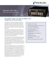 Brochure - Maxtek TM-400 Multi-Film Deposition Monitor