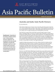 Australia and India: Indo-Pacific Partners - East-West Center