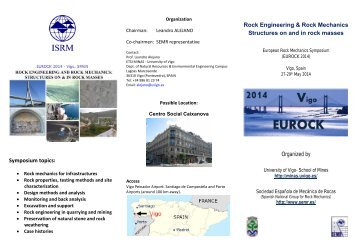 Rock Engineering & Rock Mechanics Structures on and in rock ...